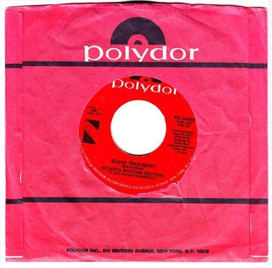 Atlanta Rhythm Section - B Side: Silent Treatment Released: 1978