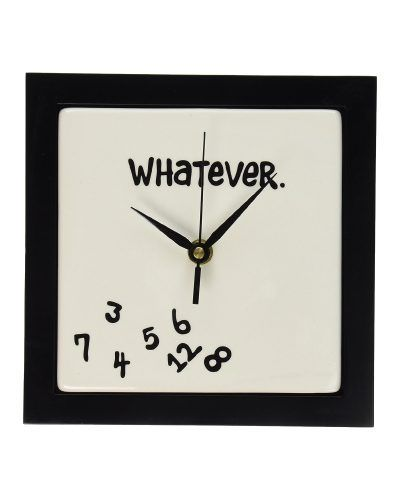 Time doesn't really matter after retirement. Whatever Wall Clock - perfect retirement gift for coworkers.