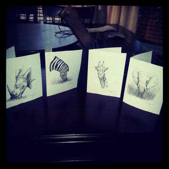 Hand Drawn Cards  proceeds for Charity by MegansCozyCreatives, $3.00