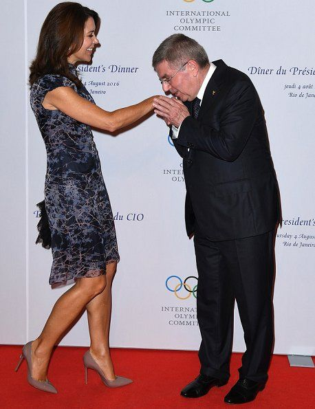 In the evening, International Olympic Committee (IOC) President Thomas Bach and his wife Claudia held a dinner at the Windsor convention centre in Rio de Janeiro on August 4, 2016, and the dinner was attended by Crown Princess Mary and Crown Prince Frederik of Denmark, King Willem-Alexander of The Netherlands and Prince Albert of Monaco.