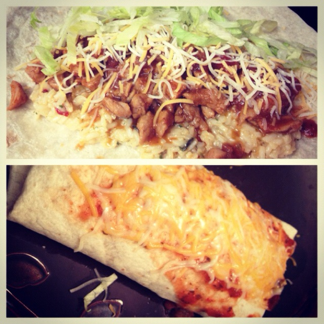 Matt and I have been missing Costa Vida's sweet pork burrito. I found this copy-cat recipe through pinterest and had to try it. Tastes really good, so much like the real deal! Yesssssssss.   -Sarah