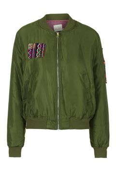 Imagine Embroidered Bomber by Native Rose