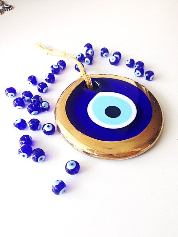 evil eye bead - 13cm - evil eye wall hanging - evil eye charm - large evil eye- nazar bead - nazar boncuk - evil eye decor It is 13 cm evil eye wall hanging (evil eye bead) It is totally handmade and each piece is unique. It comes with blue rope - ready for wall hanging ❤️Here