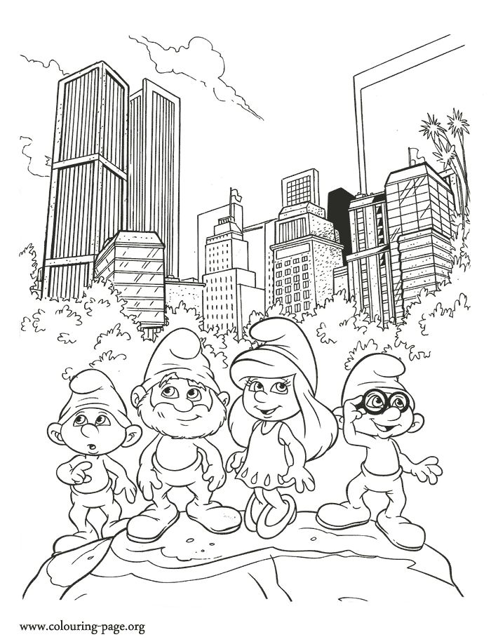 13 best the smurfs coloring pages images on pinterest the rh pinterest co uk animal coloring - Smurf Coloring Pages