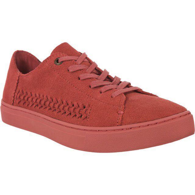 Trampki Damskie Toms Toms Czerwone Monochrome Deconstructed Suede Woven 844 Sneakers High Top Sneakers Top Sneakers