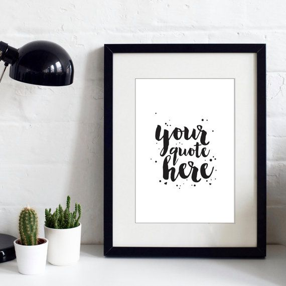 Your Quote Here  Personalisable Print  Custom Quote by IzzyandPop