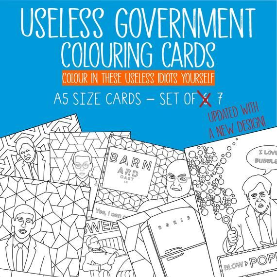 Colouring In Pages Uk Government Inspired Set Of 7 X A5 Etsy Coloring Pages Colouring Pages Fall Prints