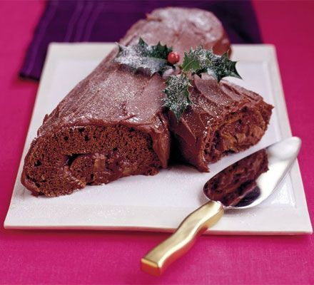 Yule chocolate log Mary Cadogan's festive chocolate log will go down a treat with everyone - it's a lighter recipe than most