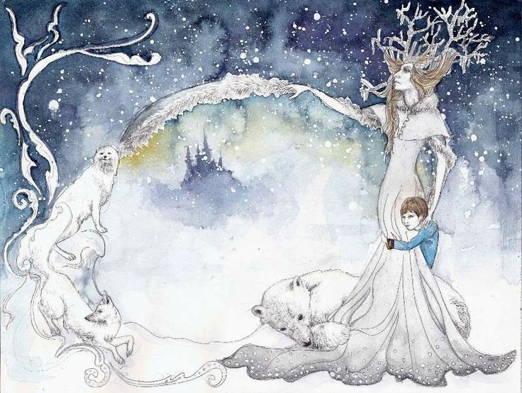 """The Snow Queen"" By Merle Hunt. Illustrating the fairy tale, The Snow Queen."