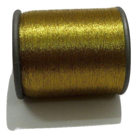 1 Spool Metallic Dark Gold Embroidery Thread, Hand/Machine Embroidery Thread…