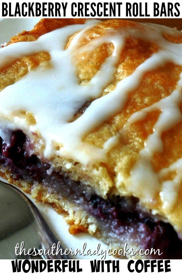 BLACKBERRY CRESCENT ROLL BARS - The Southern Lady Cooks