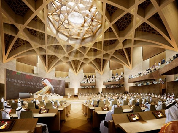 Ehrlich Architects Design Chosen For UAE Federal National Council New Parliament Building Complex