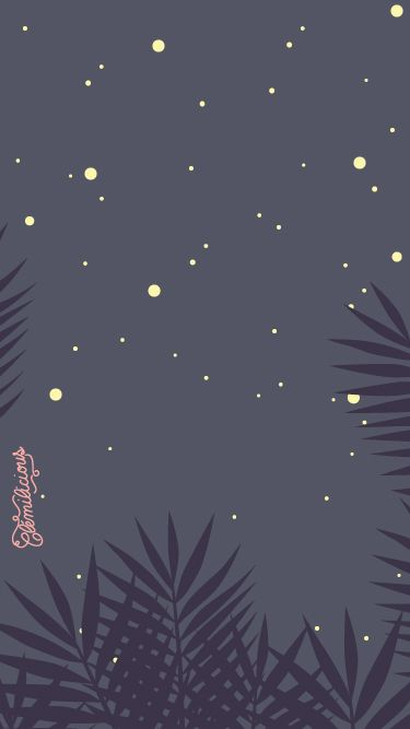Simple Night Cute Moon iPhone Home Wallpaper PanPins
