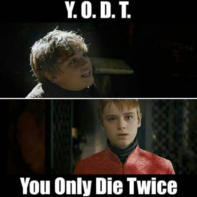 In season 3 Dean Charles Chapman was casted as one of the Lannister nephews who served Robb Stark and they were both killed. Later in the series he was casted as Tommen...and die...again #justgameofthronesthings . . Beric Dondarrion will probably disliked this post