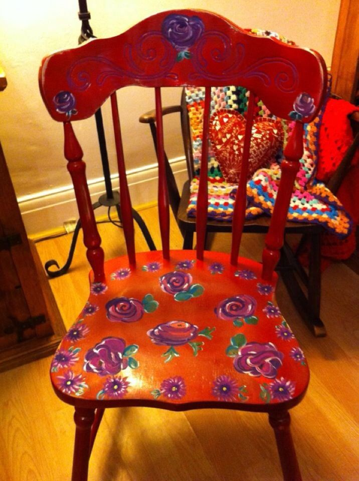 another handpainted chair for the collection