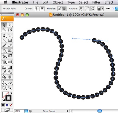 Making a continuous line of circles in Adobe Illustrator