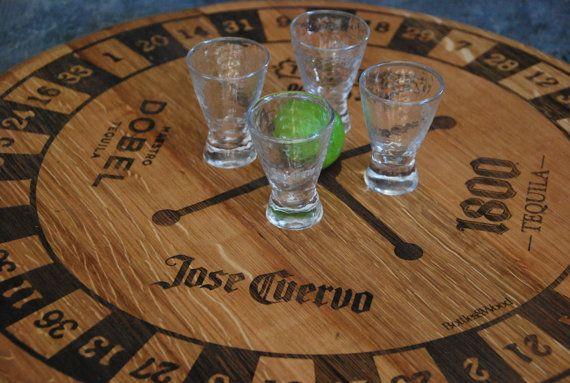 Tequila Shot Roulette  Lazy Susan  Jose Cuervo by BottlesNWood