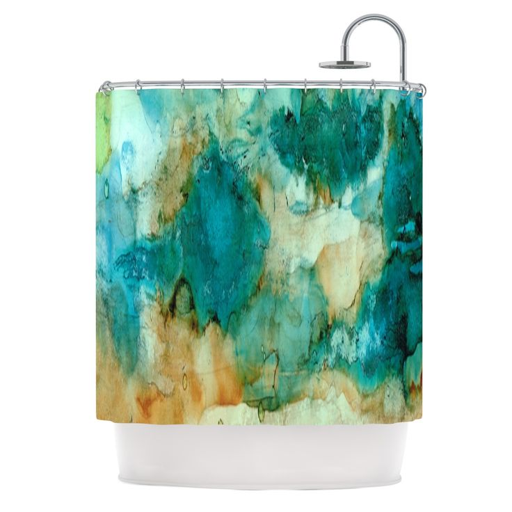 East Urban Home Waterfall by Rosie Brown Shower Curtain