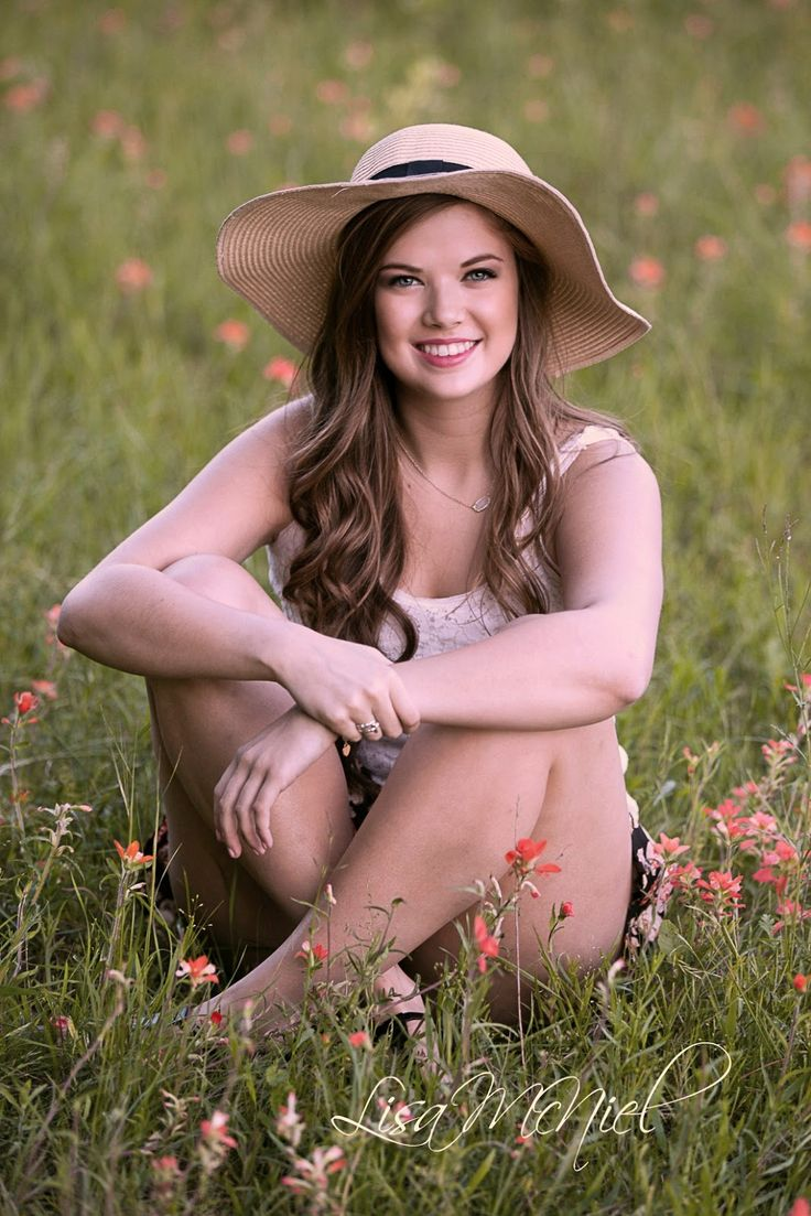 Click the pic for 12 more ideas for senior pictures, drill team, field, flowers, floppy hat, personality, Dallas Flower Mound photographer