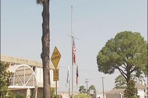 flags at half mast today california