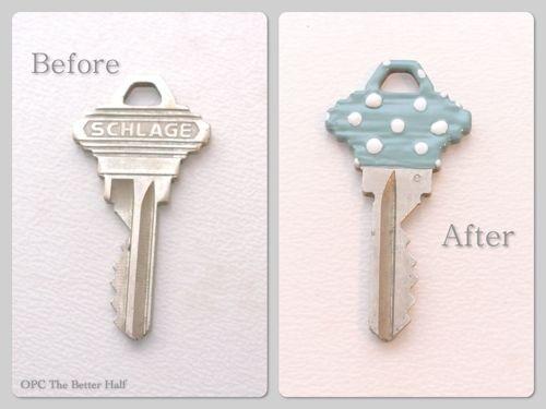 DIY:: Pretty 5 Minute  Way to Personalize & Organize Keys