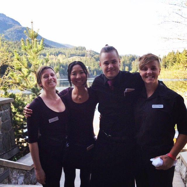 Here are some of our awesome Cure Lounge team enjoying the spring sunshine yesterday: meet Libby, Mariko, Marek and Laura! #teamnita #loveourteam #nitalakelodge #thefacesofnitalakelodge #whistler #bc #whistlerspirit #peopleofwhistler #smiles #beautifulBC #nitalake #indulgeinwhistler #onlyinwhistler #whistlerdining #whistlerdrinks #cure #lifeatthelodge #happyfaces #superteam #thankyou #exploreBC