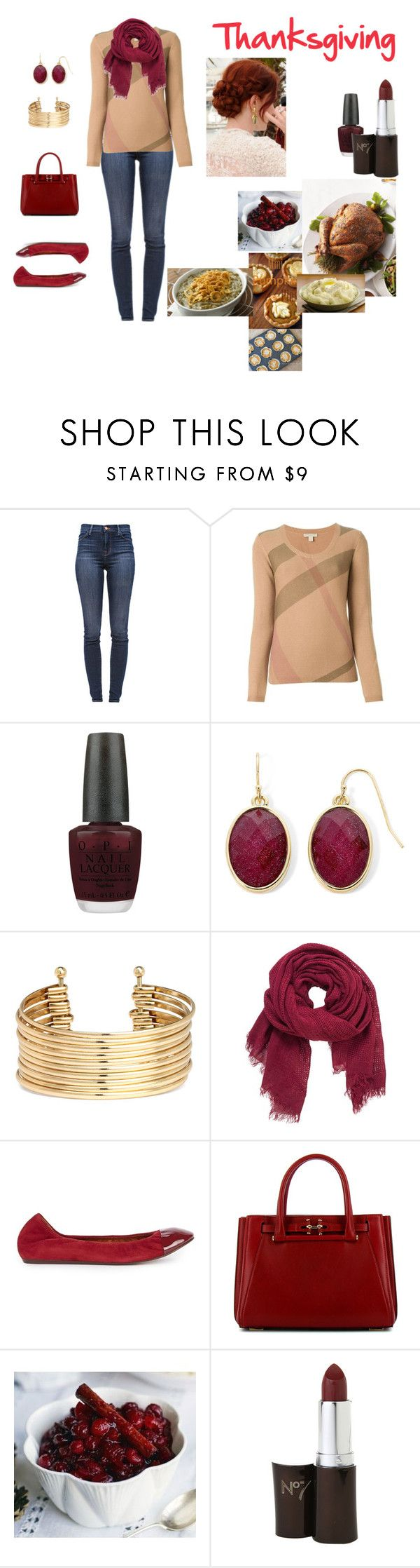 Violet on Thanksgiving by cindy-renee-miller on Polyvore featuring Burberry, J Brand, Lanvin, VBH, Liz Claiborne, H&M, maurices and OPI