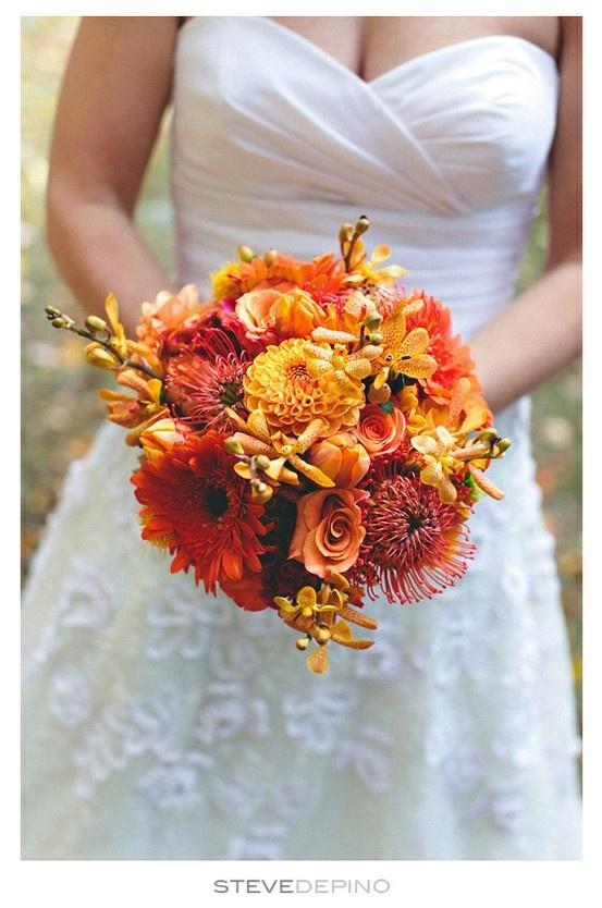 For An Autumn Wedding Flower Bouquet Bridal Bouquet Wedding Flowers