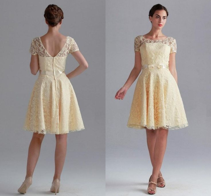 Short Yellow Dresses For Weddings
