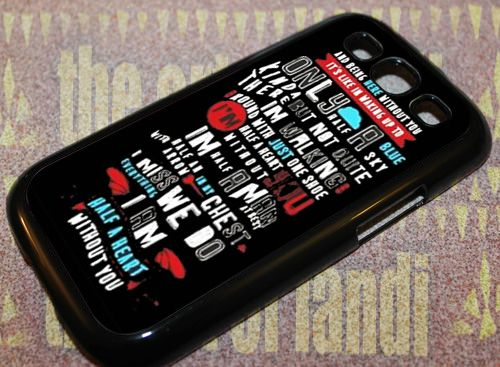 absolutely love One Direction For Samsung Galaxy S3 Black Rubber Case