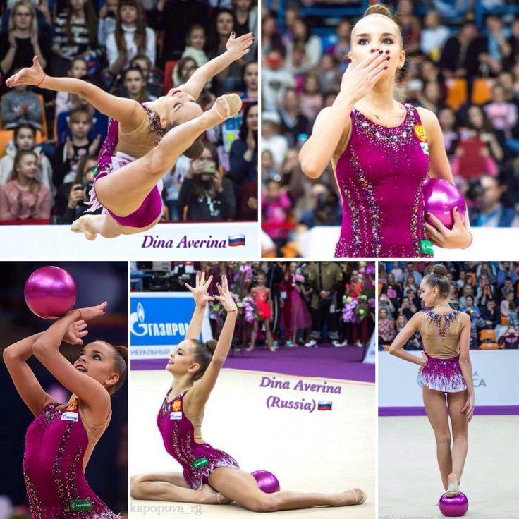 Dina AVERINA (Russia) ~ Ball collage @ Grand Prix Moscow 2017 ☘☘ Photographer Vk.com/Vika Popova_rg.