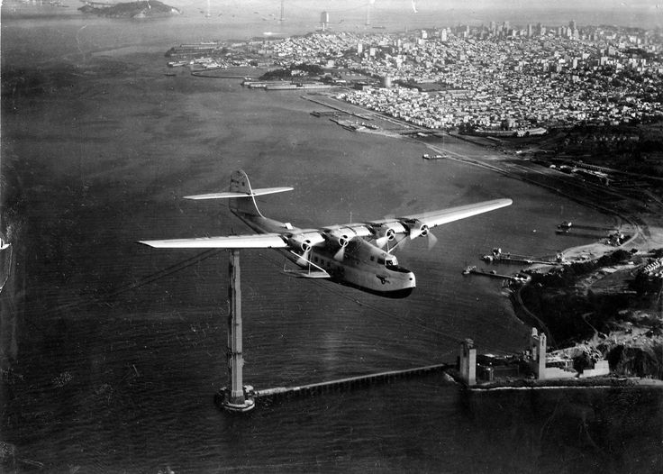 Photos of the 1935 China Clipper over SF worthy of hyperbole - San Francisco Chronicle