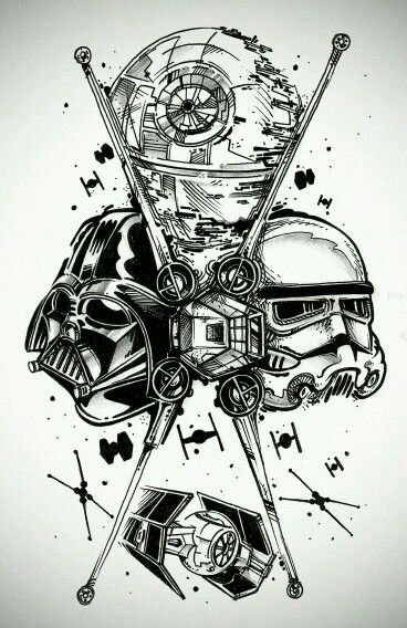 Star wars sleeve over my tribal im thinking