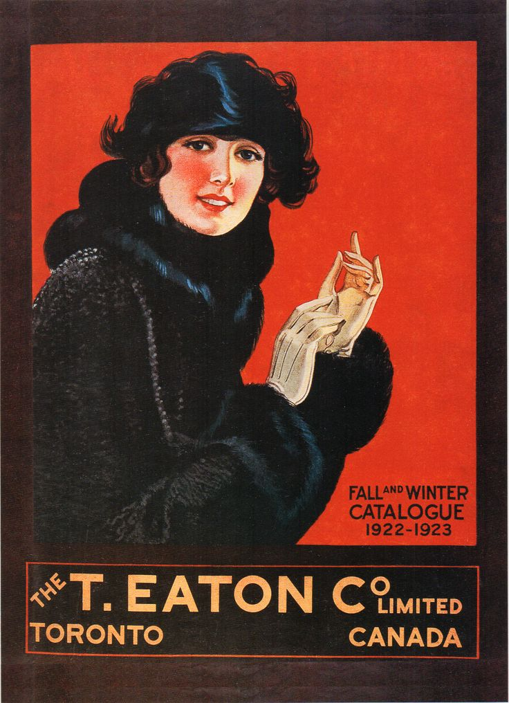 The T. Eaton Co. Limited Fall and Winter Catalogue 1922-1923. Scan from 1994 Eaton's calendar.