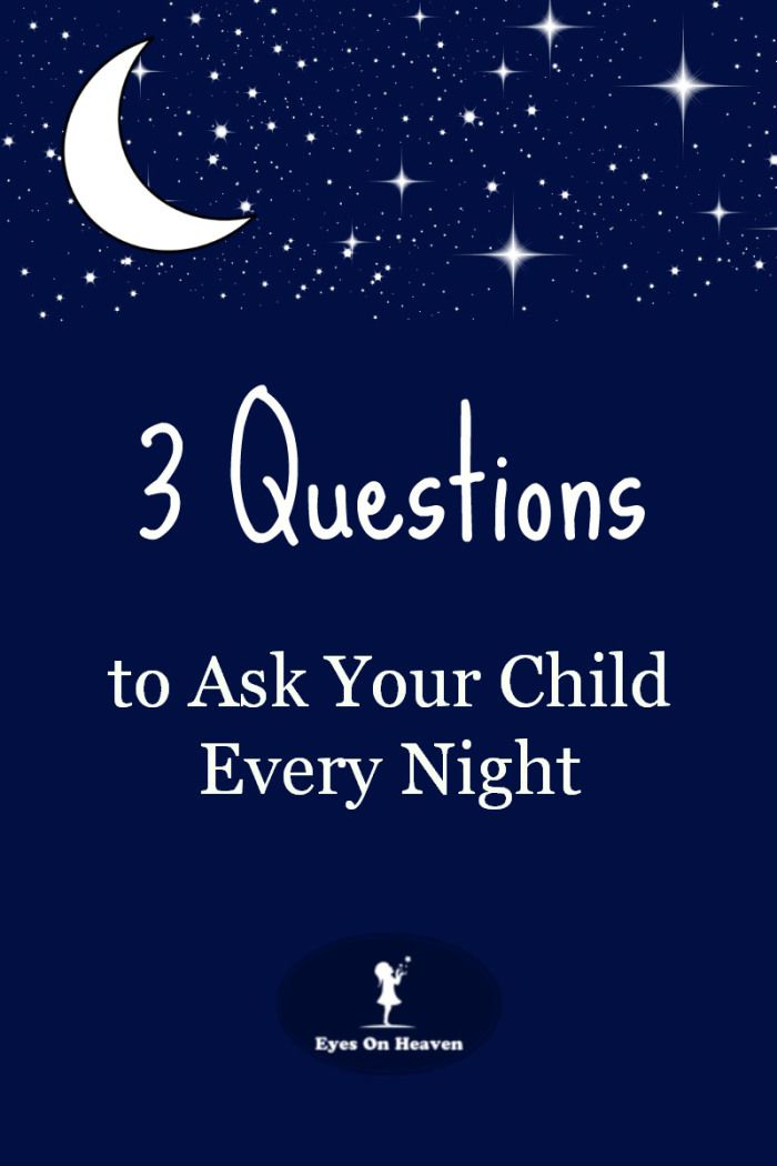 Night Questions- I do this with my son too......amazingly sensitive these little people..... He teaches me everyday.