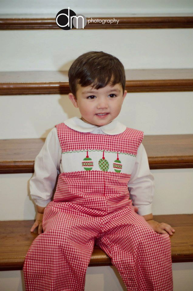 Smocked Ornament Longall in red check from Smocked Auctions | Season's  Greetings | Pinterest | Ornament and Babies - Smocked Ornament Longall In Red Check From Smocked Auctions