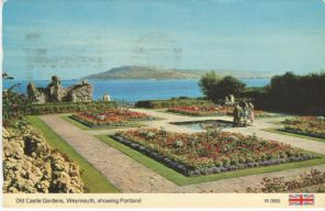Dennis Postcard, Old Castle Gardens, Weymouth, Showing Portland, W0655