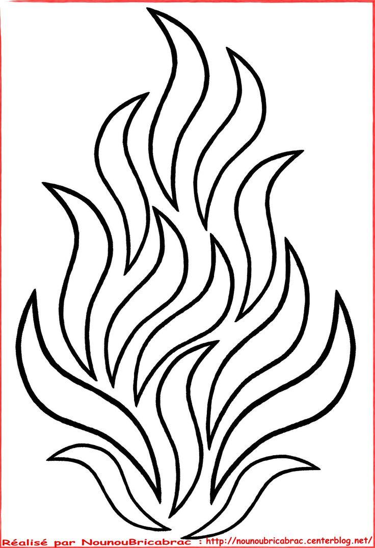 Flammes... grand feu à colorier