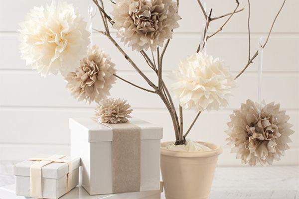 tissue paper pom poms - Tara Dennis
