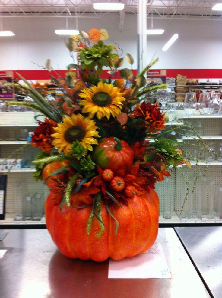 Ideas about pumpkin arrangements on pinterest fall