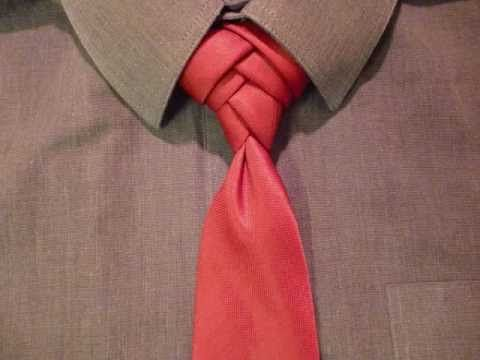 Animated How to Tie a Necktie Fishbone Knot - How to Tie a Tie - YouTube