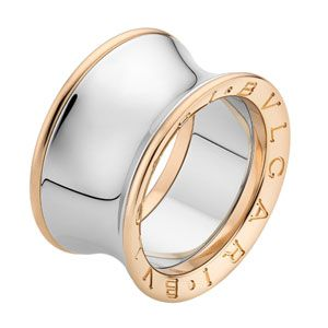 Timeless Pink Gold & Steel Ring