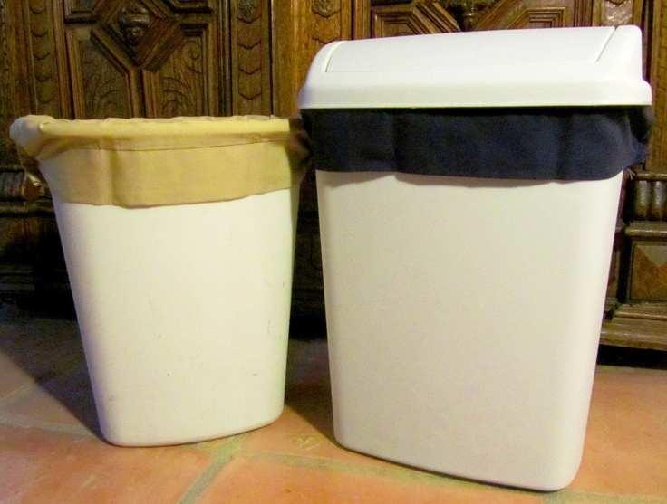 Two Reusable Bathroom Size Trash Can Liners 19 99 Via Etsy But For A Larger Bin Trash Can Reusable Paper Towels Kitchen Trash Cans