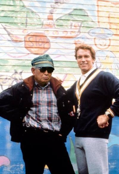 Akira Kurosawa visits Arnold Schwarzenegger