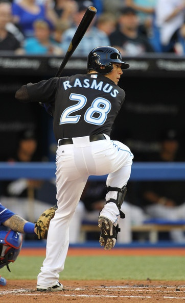 Colby Rasmus of the Toronto Blue Jays - look at that form!