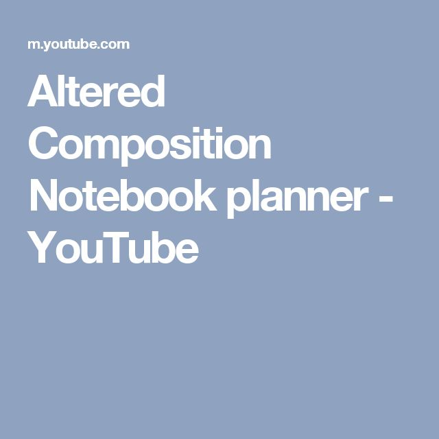 Altered Composition Notebook planner - YouTube