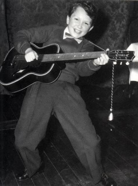 A very young Jimmy Page, already rocking.