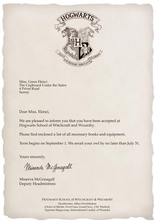 14 best Custom (Personalized) Harry Potter Hogwarts Letter images - hogwarts acceptance letter