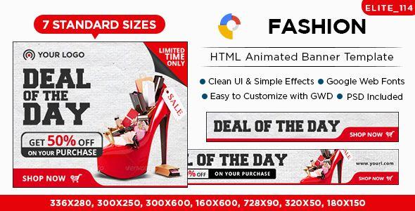 Fashion HTML5 Banners - 7 Sizes - Elite-CC-114