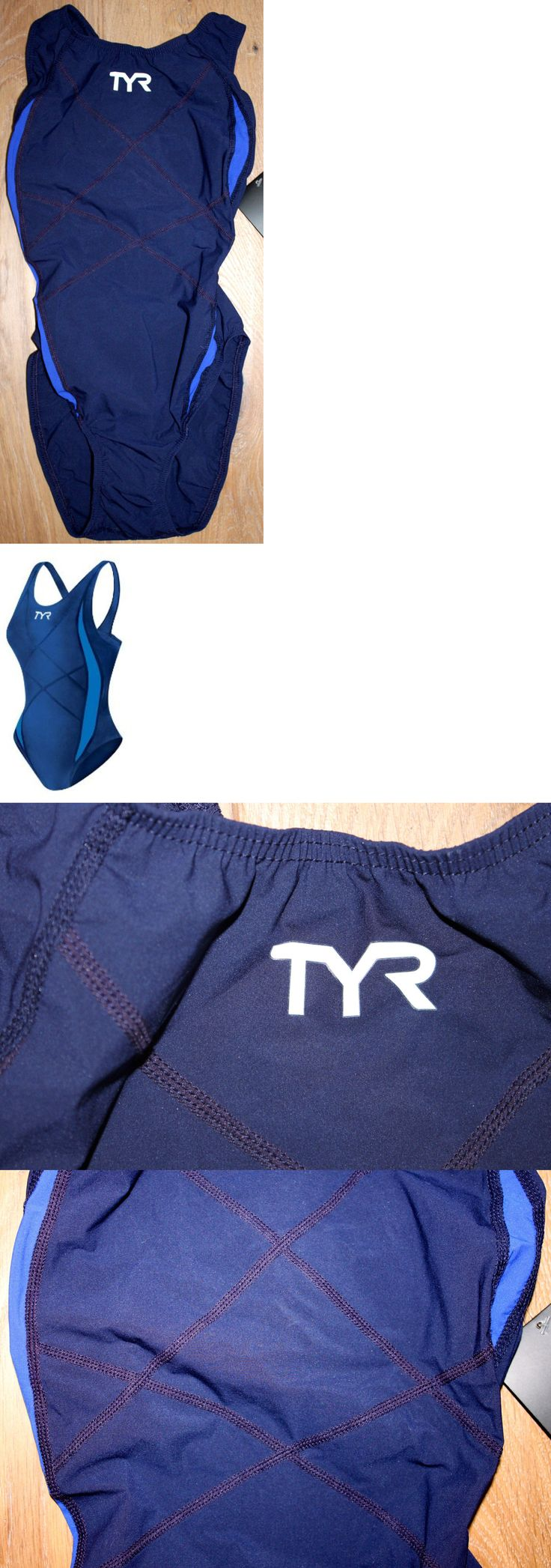 Triathlon 2918: New Tyr Womens Tracer Light Aeroback 1 Piece Tri Swimsuit - Blue - Usa Made - 32 -> BUY IT NOW ONLY: $52.2 on eBay!